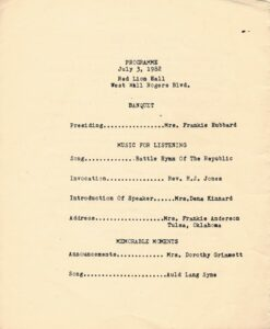 July 3 Programme for 1982 Lincoln student reunion.