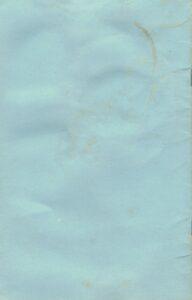 Back cover of Jones program pamphlet.
