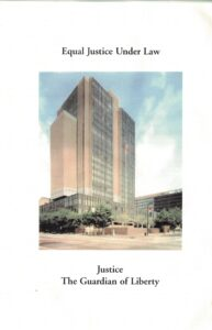 Third page of the Jones program pamphlet with building