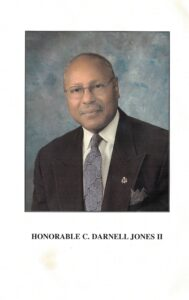 Fifth page of the Jones program pamphlet with photo and text.