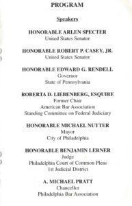 Ninth page of the Jones program pamphlet with program details.