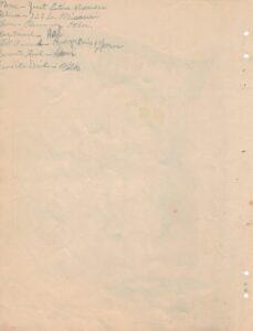 Handwritten descriptive list