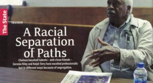Photo of older Black man gesticulating with article title.