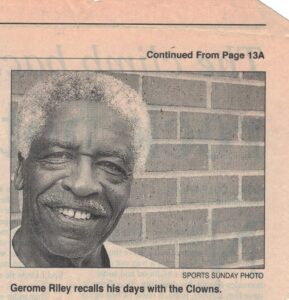 Picture of Gerome Riley with caption
