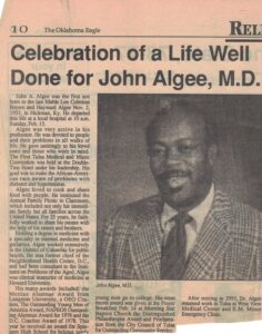Obituary for Dr. John Algee with picture