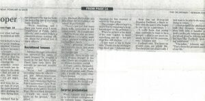 Six columns of text from Black History Month article about Ronnie Johnson.